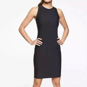 Athleta Black Racerback Stretch Dress, Size L